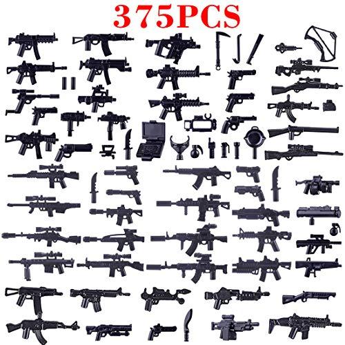 NURICH 375St. Custom Waffen Set für Mini Figuren SWAT Team Polizei Militär Soldaten, passen zum Lego