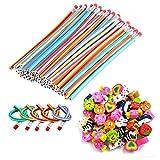 30 Crayons Souple Flexible Magique avec 30 Gomme - Papeterie Fantaisie Stylo Rigolo - Petits Jouet Cadeaux Anniversaire Pochette Surprise pour Enfants Garcon Fille - Gadget Pinata Remplie