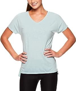 Reebok Women's V Neck Workout & Gym T Shirt - Short Sleeve Activewear Top