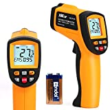 Laser Temperature Reader Gun with Data Saving Function, High Temp Infrared Thermometer Gun with High Low Temperature Alarm -58°F to 1742°F for Automobile, Cooking,BBQ, Industry Thermoworks