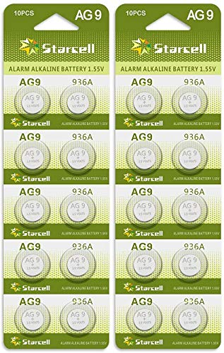 Act AG9 Knopfzelle AKA G9 LR45 LR936 SR936W, 20 Stück