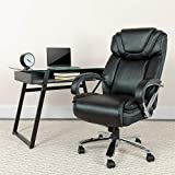 Flash Furniture HERCULES Series Big & Tall 500 lb. Rated Black LeatherSoft Executive Swivel Ergonomic Office Chair with Extra Wide Seat
