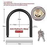 CTO Lock, Bike U Lock, Heavy Duty ad alta sicurezza in acciaio lega Anti Hydraulic Shear Martello di perforazione multipla per biciclette, moto,B