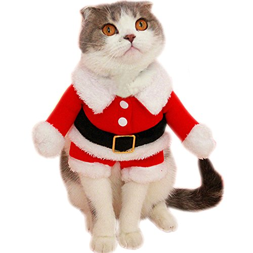 Bolbove Pet Christmas Santa Claus Suit Costume for Small...