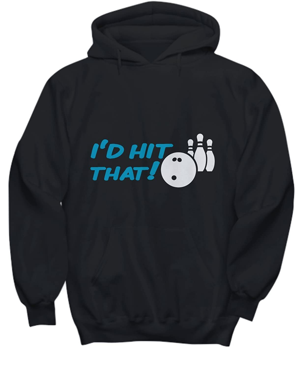 Candid Awe Hit That! - Bowling, Bowling Players, Bowling Pins, Sports – Unisex Hoodie