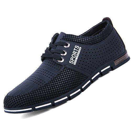 CUSTOME Männer Leder Schuhe Eben Weich Atmungsaktiv Draussen Leicht Beiläufig Übung Schuhe Schwarz