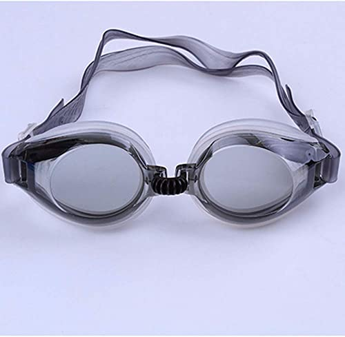 Ogquaton Lunettes de natation matérielles imperméables d'un PVC de lunettes plates de piscine d'un adulte d'été