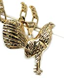 Gold Plated Chicken Rooster Pendant Necklace...