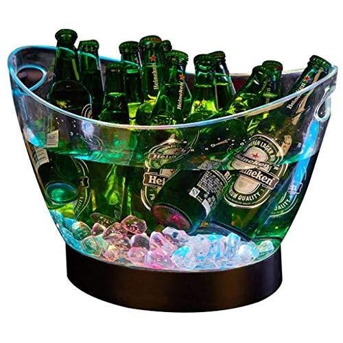 WYBFZTT-188 Cubo de Tina de plástico acrílico Transparente for Bebidas y Fiestas, Grado alimenticio, bodegas, Botellas de tamaño y Hielo