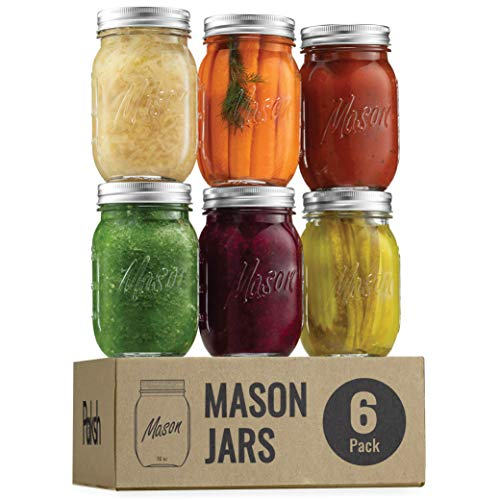 Regular Mouth Glass Mason Jars, 16 Ounce