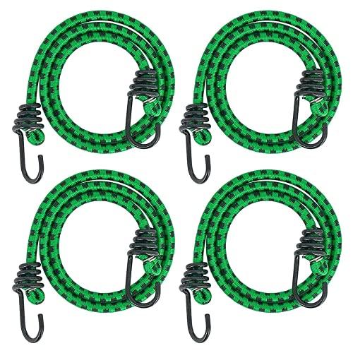 Cuerda de Equipaje Cuerdas elásticas con ganchos Cuerdas Elásticas de Alta Resistencia Pulpos para Bacas de Vehículos Longitud Surtida l Longitud de 1Metro