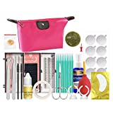Buqikma False Eyelashes Extension Glue Tool Practice Exercise Set Lash Extensions Supplies Kit Eyelash Extension Starter Kit for DIY Makeup Practice Eye Lashes Graft