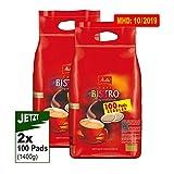 Melitta Cafe BISTRO kräftig-aromatisch 2x100 Pads 700g (1400g) - Kaffeepads Melitta
