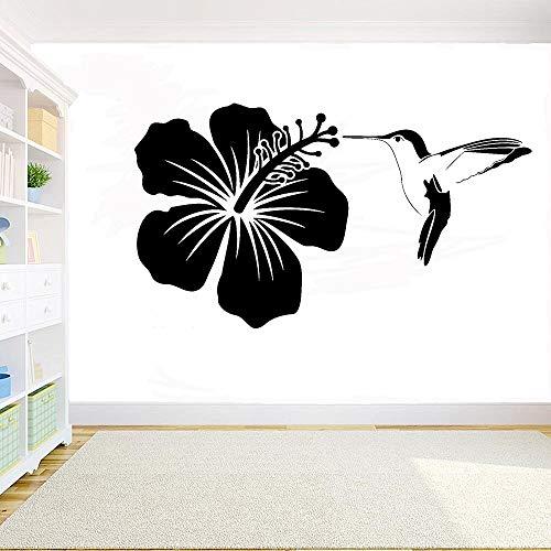 Colibrí pegatina de pared pájaro DIY calcomanías de animales calcomanías de vinilo de pared decoración mural dormitorio sala de estar ventana calcomanías A7 57x32cm