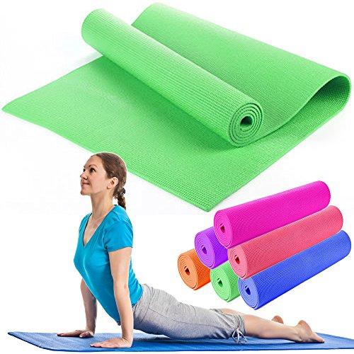 OUTLETISSIMO® Tappetino Yoga Tappeto Verde Pilates MATERASSINO Fitness Aerobica 173X61 Soft