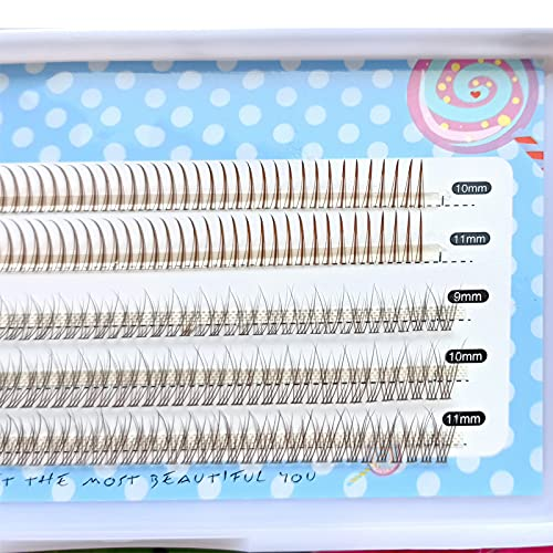 Brown Color Mixed Pack Individual Lashes Natural Cluster False Eyelashes A Shape Fairy Design Fish Tail Premade Volume Segmented Eyelash Extension