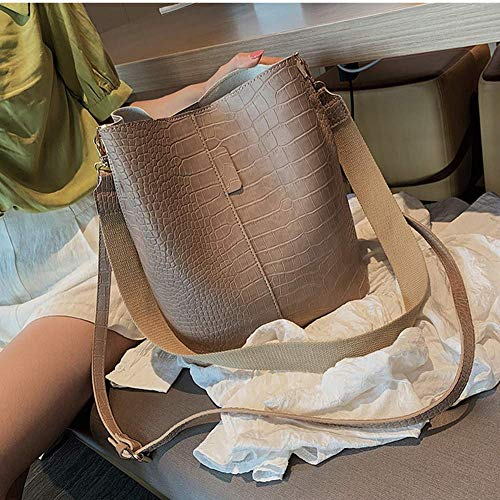 Crocodile Crossbody Bag for Women Shoulder Bag Women Bags Luxury PU Leather Bag Bucket Bag Handbag