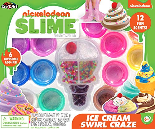 Nickelodeon Slime Ice Cream Swirl Craze Premade Slime Set