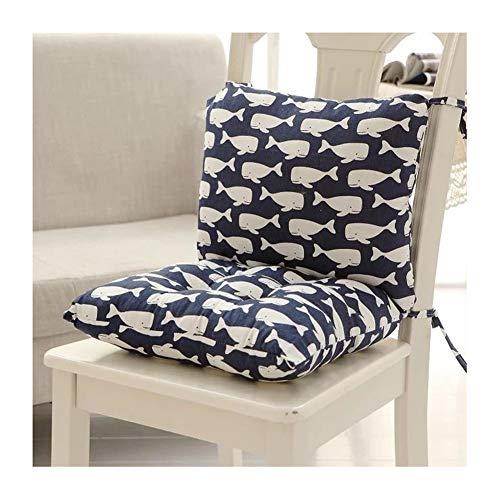 Cuscini rettangolari in vimini con lacci, per sedia a dondolo o divano, 40 x 80 cm 1