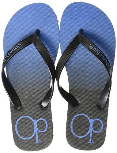 Ocean Pacific Sandalia con Chanclas para Hombre, Negro/Azul, 10