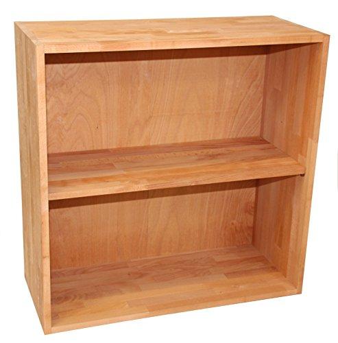 Isfort Holzhandels GmbH Großes Regal für Büroordner aus Massivholz Buche geölt, Büroregal, Regalwürfel, erweiterbar, echtes Holz