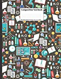 Composition Notebook: Science Scientific Laboratory Design Cover 100 College Ruled Lined Pages Size (7.44 x 9.69)