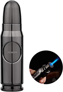 TOPKAY Torch Lighter, Windproof Turbo Jet Flame Torch Lighter, Refillable Butane Torch Lighter, Mini Torch Lighter with Deluxe Gift Box (Gunmetal, Without Gas)