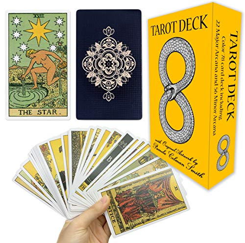 MIRIYAN Tarot Cards Deck with Original Pamela Colman Smith Artwork | This Rider Waite Tarot Deck is a Classic Tarot Card Set for Beginners and Experienced Readers