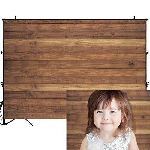 Allenjoy 7x5ft Vinyl Rustic Wood Wall Photography Backdrop Baby Shower Birthday Party Decoration Newborn Kids Portrait Photoshoot Photo Background Photographer Props