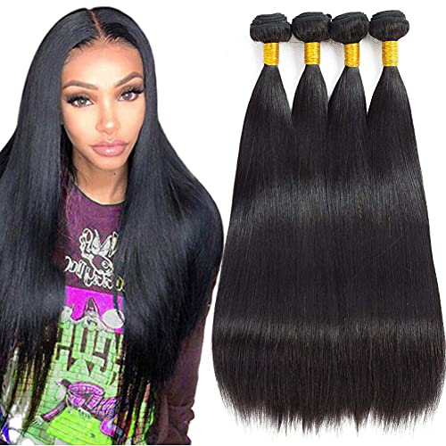 LAdiary capelli veri umani lisci 400g capelli brasiliani vergini kann essere tinti e restyling extension tessitura capelli veri naturale colorati human hair 45 50 55 60 cm