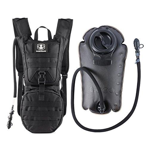 Gonex Trinkrucksack mit 3 L Trinkblase, Taktischer Hydrapack mit Trinkschlauchperfekt für Wandern Radfahren Joggen, Spazieren Klettern und Bergsteigen