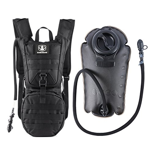 Barbarians Tactical Hydration Pack Lightweight Military Molle Water Backpack with 3L Bladder Black