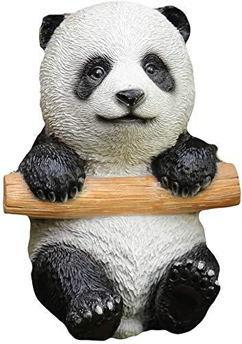 JUNJIJINGXIANG Adornos Jardin Adornos Jardin Exterior Painador Al Aire Libre Panda Estatua Escultura, Resina Personalidad Art Crafts Oficina Sala De Estar Decoración De Escritorio H17CM