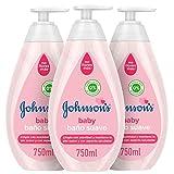 Johnson's Baby Baño Suave, Jabón Líquido Suave y Delicado de Uso Diario para Pieles Sensibles - 3 x 750 ml