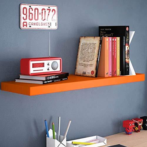 GICOS IMPORT EXPORT SRL Mensola da Parete pensile scaffale in Legno MDF da Muro Colore Arancione 40 * 25 * 4 cm DOU-789397