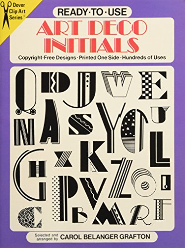 Ready-To-Use Art Deco Initials PDF Books