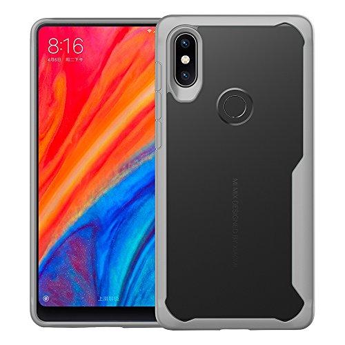 UBERANT Capa Xiaomi Mi Mix 2S, capa ultrafina resistente de TPU macio e policarbonato rígido transparente com absorção de choque e proteção contra arranhões para Xiaomi Mi Mix 2S 6 polegadas cinza