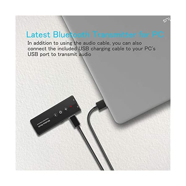 Bluetooth Transmitter and Receiver 3-in-1, Portable Wireless Bluetooth Adapter 5