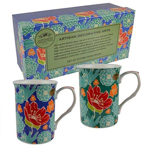 Leonardo Artisan Lot de 2 tasses en porcelaine fine