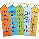 """ORIGINAL DESIGN – Expertly crafted in our Northern California Workshop, these fun 2""""x8"""" ribbons really stand out with fun titles, vibrant ribbon colors, and multi-color printing. ALL SMILES – You'll be as proud to give as receive these awards; each r..."""