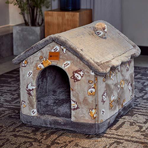 N-B Cama para mascotas de invierno, cálida para perros y gatos, cama universal extraíble y lavable, para todas las estaciones