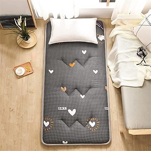 Colchones Futón plegable Tatami, almohadilla de dormir del piso gruesa, Transpirable portátil Mat Dormitorio doméstico oficina, diseño de rayas, fácil de guardar, doble / de solo tamaño Textiles del h