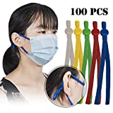 Elastic String for Masks,100pcs Elastic Bands Cord for Sewing with Adjustable Buckle (Multi Color)