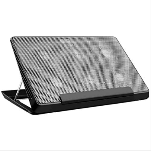 QCHEA Laptop Cooling Pad, 12-17 inch Laptop Raffreddamento Cooling Pad Notebook Cooler Cooling Stand Cooling Pad Mat, Due Porte USB, 6 Regolazione Altezza, Silenzioso di velocità del Vento