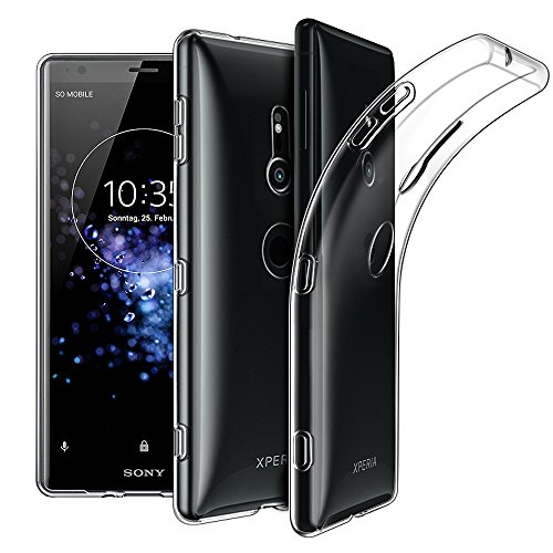 Sony Xperia XZ2 Hülle Hülle, EasyAcc Dünn Crystal Clear Transparent Tasche Handyhülle Cover Soft Premium-TPU Durchsichtige Schutzhülle Backcover Slimcase für Sony Xperia XZ2 5.7''