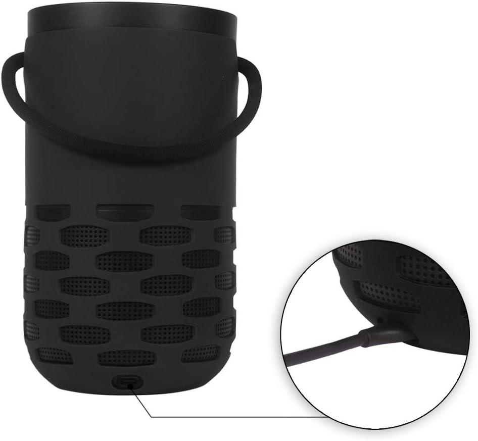 Grigio Cute Custodia protettiva in silicone Case Cover per Bose Portable Home Speaker con Cinturino a Mano RLTech Custodia Per Bose Portable Home Speaker
