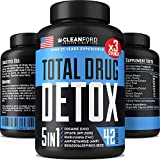 THC Detox 5-in-ONE - Premium Cleanse & Toxins Remove - Natural Drug Detox Pills...