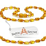 Baltic Amber Necklace - Genuine Baltic Beads - Certified Genuine Baltic Amber Necklaces for Girls...