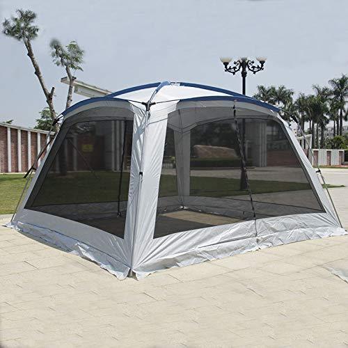 IHCIAIX Alltel 5-8 Personas Ulterlarge 365 * 365 * 210 cm Carpa de Camping Gazebo Sun Shelter Grande, Carpa de Playa para Acampar, Azul