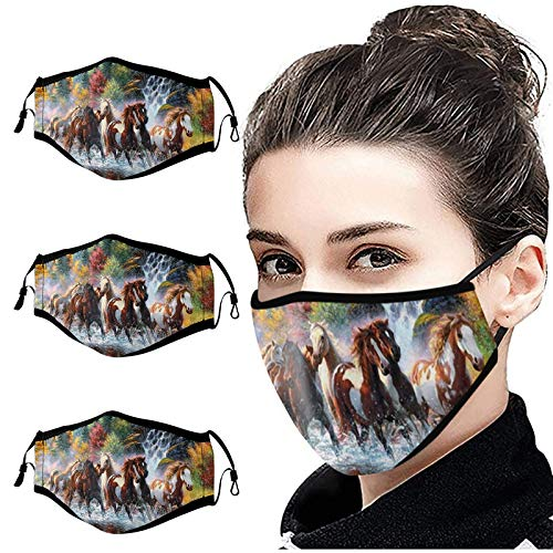 Mllkcao Gifts for Women 3PCS Adult Unisex Face_Másks Breatha𝙗𝙡𝙚 Cycling Mack and Exhaust Sunscreen
